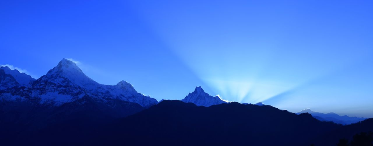 Beautiful view from Poon Hill in the early morning